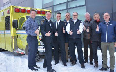 La CETAM fait don d'une ambulance au Collège John Abbott